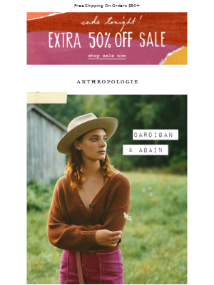 Anthropologie - Au revoir: EXTRA 50% OFF Sale!