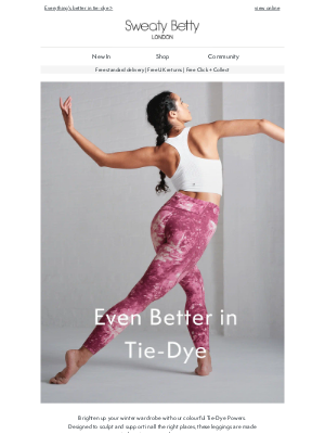 Sweaty Betty (UK) - Your favourite leggings just got tie-dyed