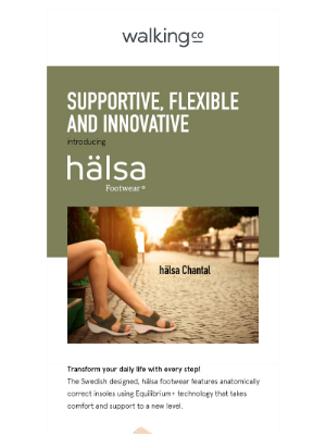 The Walking Company - Introducing halsa Footwear