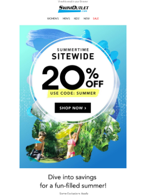 ☀️ 20% Off SITEWIDE Continues 🌴