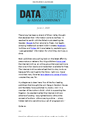 Data Sheet: This is piracy
