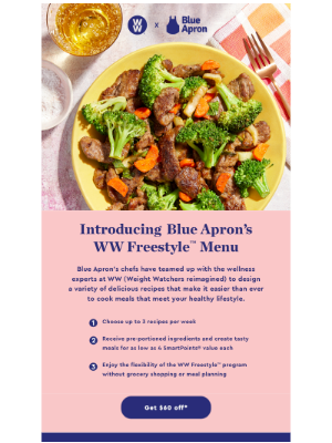 Healthy choices are easier with our new WW Freestyle Menu!