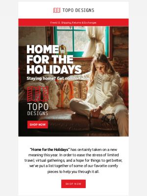 Topo Designs - Home for the Holidays