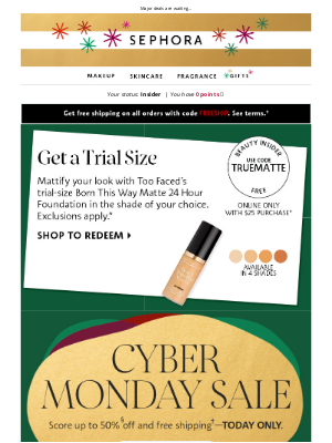Sephora -  Our Cyber Monday Sale is ON ✨