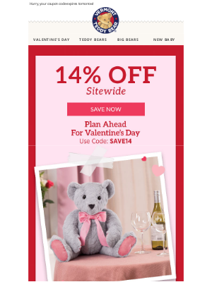 Vermont Teddy Bear - BEARy Sweet Savings Inside ❤️ Includes ALL Valentine's Gifts