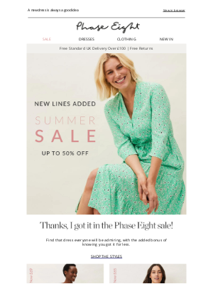 Phase Eight (UK) - Up to 50% off SALE dresses