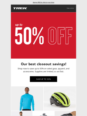 Trek Bicycle - CLOSEOUT! Save up to 50% now!