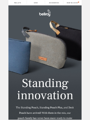 Bellroy - New pouches are here!
