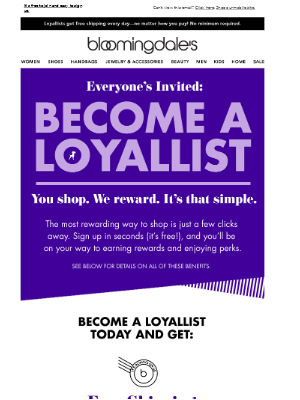 Become a Loyallist Today, Start Earning Rewards