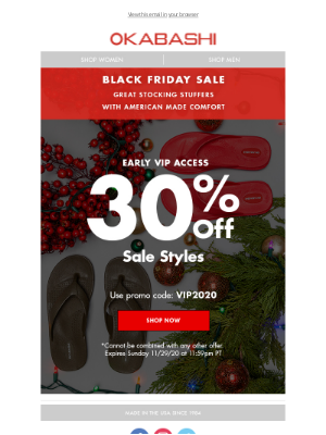 Okabashi Brands - VIP Access-Early Black Friday Sale