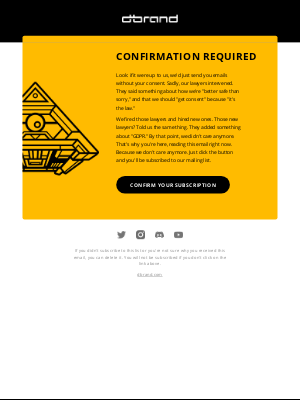 dbrand - dbrand Subscription Confirmation