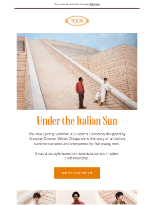 TOD'S - Tod's presents exclusive content from Under the Italian Sun: Spring - Summer 2022 Collection.