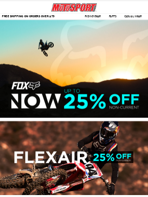 2020 Fox Racing Now Up To 25% Off