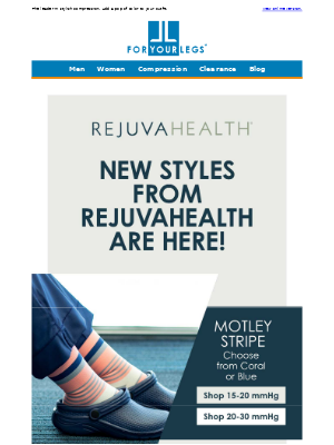 For Your Legs - New Fashionable Styles from Rejuva