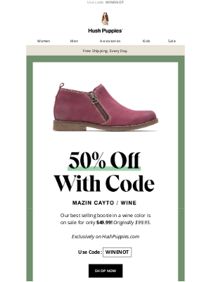 Hush Puppies - ENDS TODAY: 50% off our best-selling women's boot.