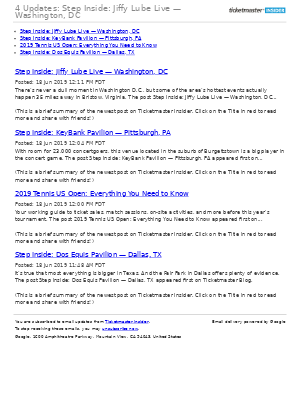 4 Updates: Step Inside: Jiffy Lube Live — Washington, DC