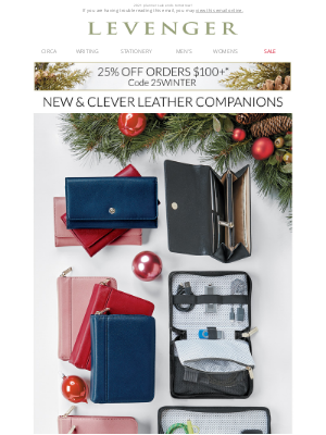 Levenger - Clever New Additions + 25% off.