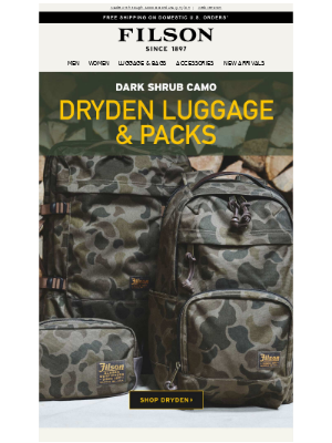 Filson - New Camo For Dryden Bags