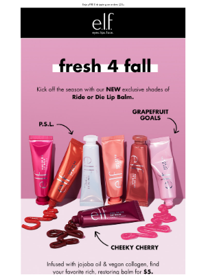 e.l.f. Cosmetics - Ride or Die Lip Balm: NEW shades for fall 🍂
