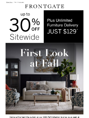 Frontgate - Get a sneak peek at our new Fall collection.