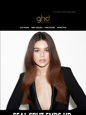 ghd (UK) - How to fix split ends without cutting them?