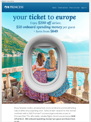 Princess Cruises - Your dream vacation to Europe has never been easier