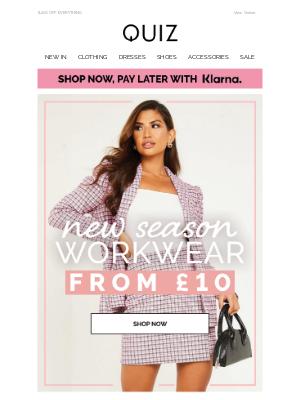 Quiz Clothing (UK) - New season workwear from £10 👗