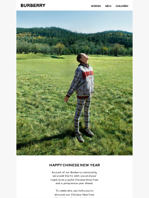 Burberry USA - Happy Chinese New Year from Burberry