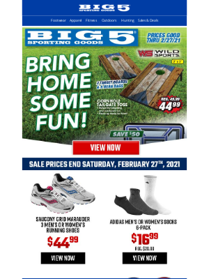 Big 5 Sporting Goods - Save on Games at Home! Get Deals Now!