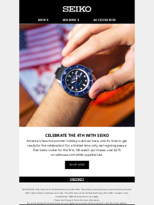 Seiko - 🎉 Free Gift Inside for the 4th of July 🎉