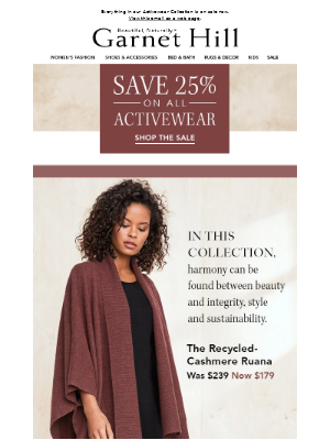 SAVE 25% on pieces you'll want to live in, like our Cashmere Ruana!