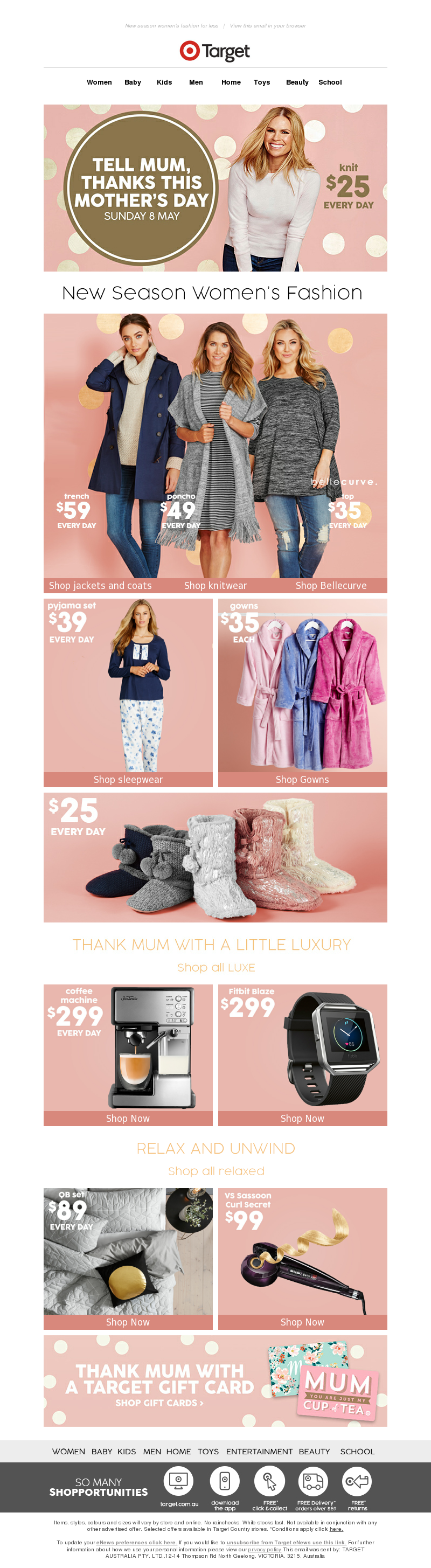 Target (AU) - Tell Mum, thanks this Mother's Day