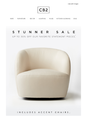 CB2 - up to 30% off these stunners