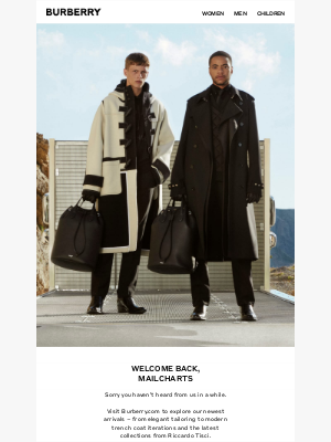 Burberry USA - Welcome Back, MailCharts