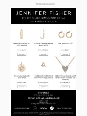 Jennifer Fisher Jewelry - TREAT YOURSELF TO 15% OFF FINE JEWELRY