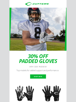 Cutters Sports - Oh Yeah We Did 😮 30% OFF ALL Padded Gloves