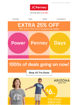 JCPenney - THOUSANDS of Power Penney deals 💸