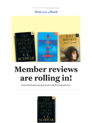 Real reviews of our October books.