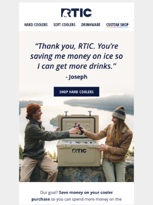 RTIC Outdoors - Save money on hard coolers…