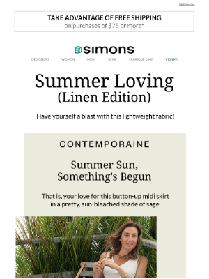 Simons Canada - Summer Loving (Linen Edition)