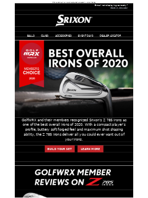 Srixon Z 785 Irons | Best Overall Irons