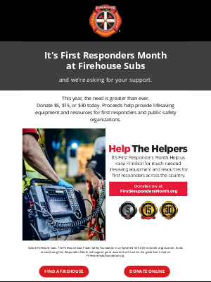 Firehouse Subs - Help the Helpers!