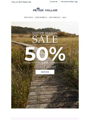 Reminder: 50% Off Select Styles