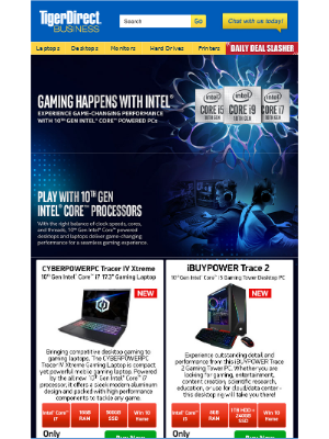 TigerDirect - 💪 Powerful 10th Gen Intel® Gaming PCs as Low as $922