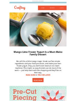 Bluprint - Mango Lime Frozen Yogurt Is a Must-Make Family Dessert