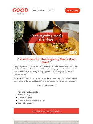 The Good Kitchen - Carolyn, Holiday Meals Are Here 🦃