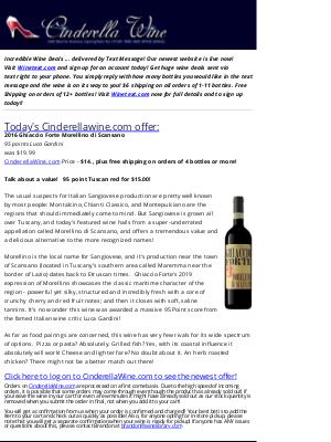 Wine Library - 2018 Ghiaccio Forte Morllino di Scansano (95 LG) Free ship on 4