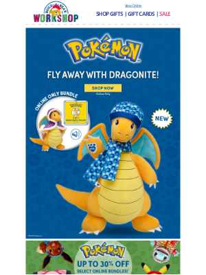 Build-A-Bear Workshop - Dragonite Is Our Newest Pokémon Plush!