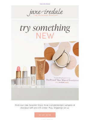 jane iredale - Try something new, on us!