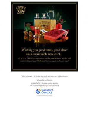 TWG Tea Canada - Looking ahead to a brand new year